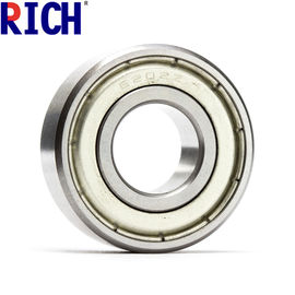 China Dust Cover Car Engine Bearings Shiny Ball Bearing 6202 15 X 35 X 11 Mm Size factory
