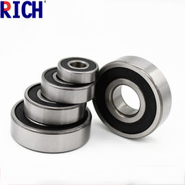 Nylon Auto Parts Bearings Silver 6010 Ball Bearing With One Side Seal Ring